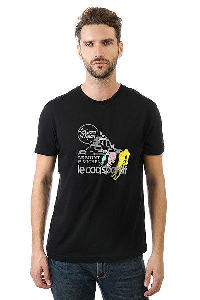 Футболка Le Coq Sportif Tdf Fan N°1 Black<br><br>Цвет: черный<br>Тип: Футболка<br>Возраст: Взрослый<br>Пол: Мужской
