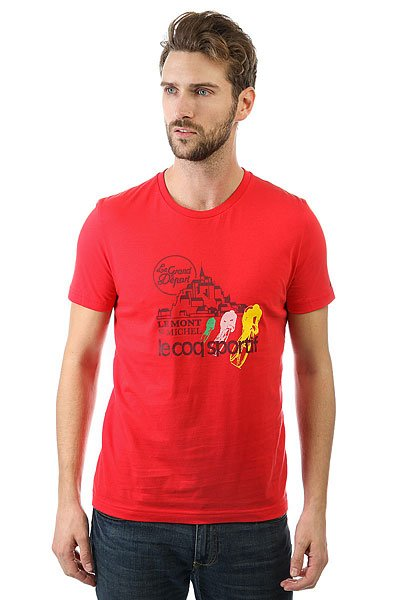 Футболка Le Coq Sportif Tdf Fan N°1 Vintage Red<br><br>Цвет: оранжевый<br>Тип: Футболка<br>Возраст: Взрослый<br>Пол: Мужской