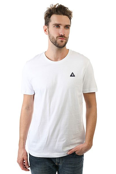 Футболка Le Coq Sportif Sureau Tee N°2 Optical White<br><br>Цвет: белый<br>Тип: Футболка<br>Возраст: Взрослый<br>Пол: Мужской