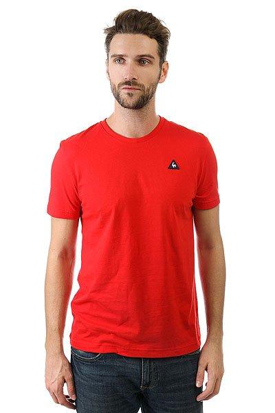 Футболка Le Coq Sportif Sureau Tee N°2 Pur Rouge<br><br>Цвет: красный<br>Тип: Футболка<br>Возраст: Взрослый<br>Пол: Мужской
