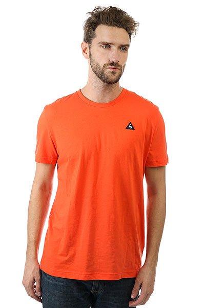 Футболка Le Coq Sportif Sureau Tee N°2 Sanguine<br><br>Цвет: оранжевый<br>Тип: Футболка<br>Возраст: Взрослый<br>Пол: Мужской