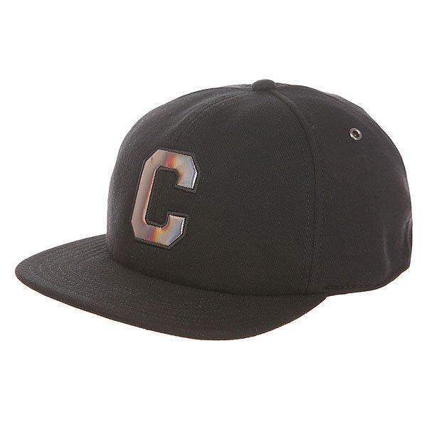 Бейсболка с прямым козырьком Converse Con227 Black