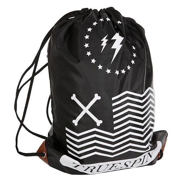 Мешок TrueSpin Gymsack 3 BlackУниверсальный мешок из прочной нейлоновой ткани от немецкого бренда TrueSpin.Технические характеристики: Прочная нейлоновая ткань с водостойким покрытием.Застежка на шнуровке-утяжке.Карман на молнии.<br><br>Цвет: черный,белый<br>Тип: Мешок<br>Возраст: Взрослый