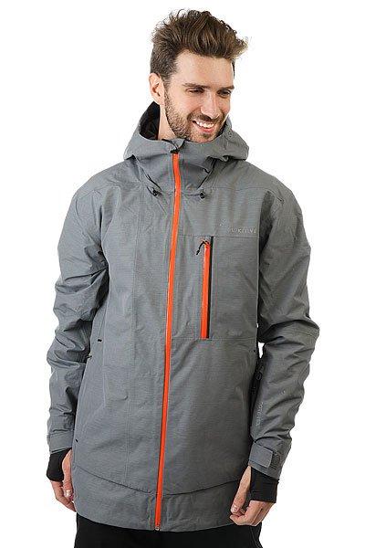 Куртка Quiksilver Impact Gore Quiet ShadeКуртка Impact из коллекции Highline - это максимально водонепроницаемая одежда, которая будет держать Вас в тепле и сухости день за днем, на любой вершине.Технические характеристики: Мембрана 2L GORE-TEX®.Утеплитель PrimaLoft® Silver (тело 60 г, рукава и капюшон 40 г).Подкладка из тисненой тафты и трикотажа с начесом.Полностью проклеенные швы.Вентиляционные отверстия на молнии с подкладкой из сетки.Три способа регулировки капюшона со стопперами Cohaesive™.Внутренние эластичные манжеты с отверстием для пальца.Внутренний карман для маски, медиа карман, скипасс карман.Ткань для протирки фильтра маски внутри одного из карманов.Вшитая снежная юбка из синтетической тафты с лайкровой вставкой.Система пристегивания куртки к штанам.Брелок для ключей.Водонепроницаемые молнии YKK® Aquaguard®.Приталенный крой.<br><br>Цвет: серый<br>Тип: Куртка утепленная<br>Возраст: Взрослый<br>Пол: Мужской