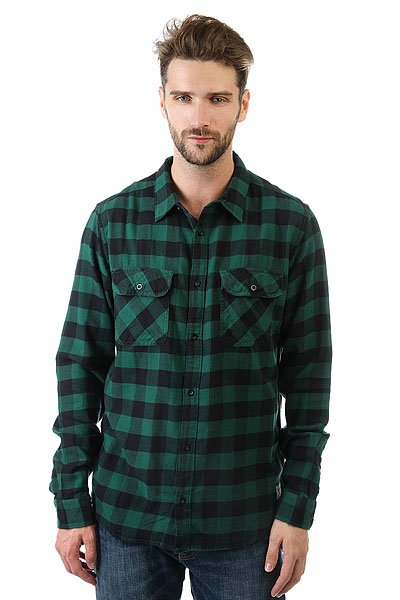 Рубашка в клетку Billabong All Day Flannel Evergreen рубашка billabong all day oxford ls sh