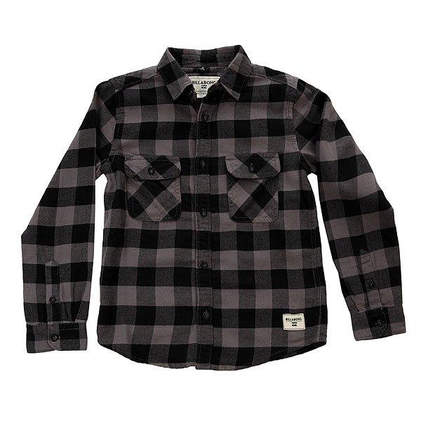 Рубашка в клетку детская Billabong All Day Flannel Black<br><br>Цвет: черный,серый<br>Тип: Рубашка в клетку<br>Возраст: Детский