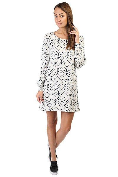 Платье женское Billabong Heart Strayed Dress Cool WipЭлегантное женское платье с открытой спинкой.Технические характеристики: Длинные рукава с эластичными манжетами.Глубокий вырез на спинке.Расслабленный крой.Сплошной принт.<br><br>Цвет: белый,синий<br>Тип: Платье<br>Возраст: Взрослый<br>Пол: Женский