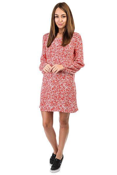 Платье женское Billabong Heart Strayed Dress Rad RedЭлегантное женское платье с открытой спинкой.Технические характеристики: Длинные рукава с эластичными манжетами.Глубокий вырез на спинке.Расслабленный крой.Сплошной принт.<br><br>Цвет: белый,красный<br>Тип: Платье<br>Возраст: Взрослый<br>Пол: Женский