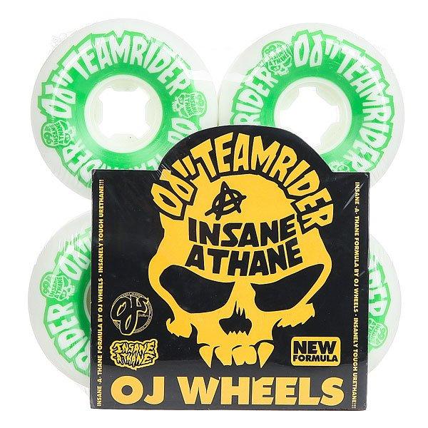 Колеса для скейтборда для скейтборда Oj Team Rider Hard Line Insaneathane White/Green 99A 58 mm