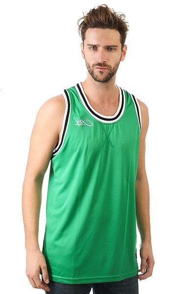 Майка K1X Hardwood Double X Jersey Green/White<br><br>Цвет: зеленый<br>Тип: Майка<br>Возраст: Взрослый<br>Пол: Мужской