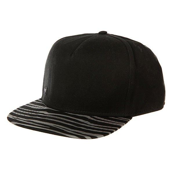 Бейсболка с прямым козырьком K1X Zebra Snapback Cap Black<br><br>Цвет: черный,серый<br>Тип: Бейсболка с прямым козырьком<br>Возраст: Взрослый<br>Пол: Мужской
