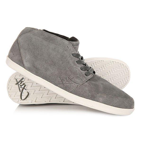 Кеды кроссовки высокие K1X Lp Le Grey/White suede