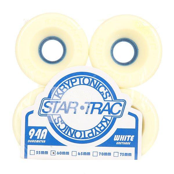 Колеса для скейтборда для лонгборда Kryptonics Star Trac White/Blue 94A 60 mmДиаметр: 60 mm    Жесткость: 94A    Цена указана за комплект из 4-х колес<br><br>Цвет: белый<br>Тип: Колеса для лонгборда