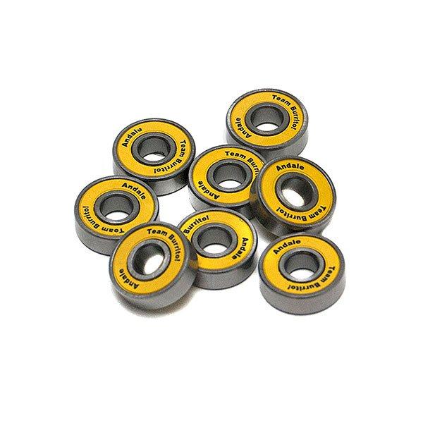 Подшипники для скейтборда Andale Abec 5 Yellow<br><br>Цвет: желтый,серый<br>Тип: Подшипники