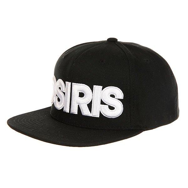 Бейсболка с прямым козырьком Osiris Snap Back Hat Nyc Chr<br><br>Цвет: черный<br>Тип: Бейсболка с прямым козырьком<br>Возраст: Взрослый<br>Пол: Мужской