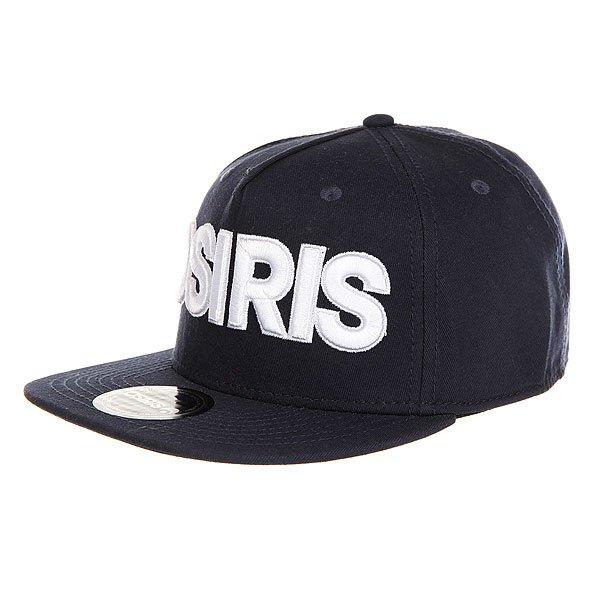 Бейсболка с прямым козырьком Osiris Snap Back Hat Nyc Nvy<br><br>Цвет: синий<br>Тип: Бейсболка с прямым козырьком<br>Возраст: Взрослый<br>Пол: Мужской