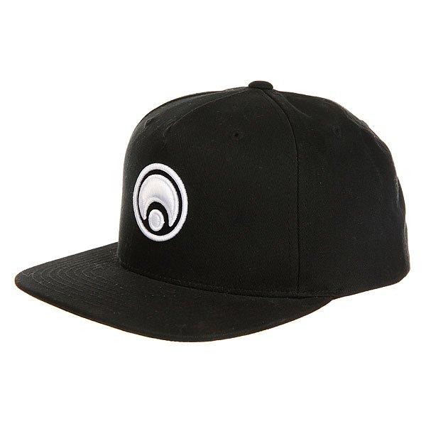 Бейсболка с прямым козырьком Osiris Snap Back Hat Standard Black/White<br><br>Цвет: черный<br>Тип: Бейсболка с прямым козырьком<br>Возраст: Взрослый<br>Пол: Мужской
