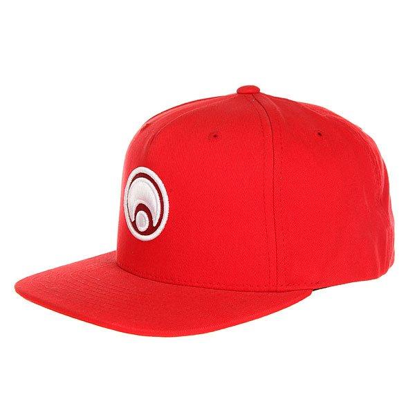 Бейсболка с прямым козырьком Osiris Snap Back Hat Standard Red/White<br><br>Цвет: красный<br>Тип: Бейсболка с прямым козырьком<br>Возраст: Взрослый<br>Пол: Мужской