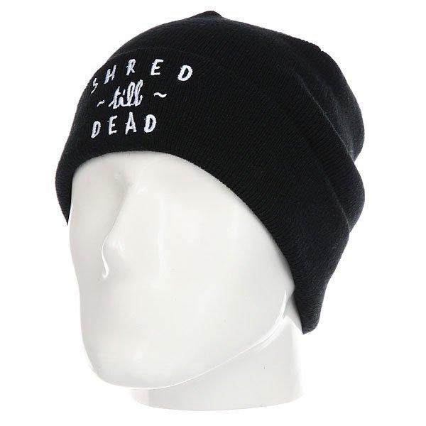 Шапка Rip Curl Shred Till Dead Beanie BlackХарактеристики:Возможность сложить.Вышивка.<br><br>Цвет: черный<br>Тип: Шапка<br>Возраст: Взрослый<br>Пол: Мужской
