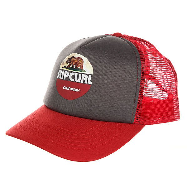 Бейсболка с сеткой Rip Curl Cali Bear Trucker Charcoal Grey