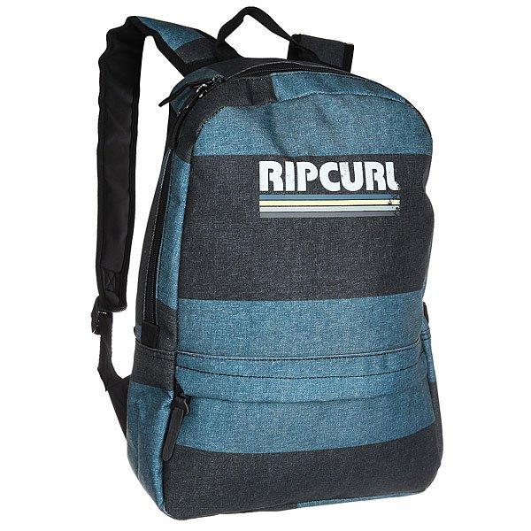 Рюкзак городской Rip Curl Modern Retro Stone BlueХарактеристики:Ультралегкий рюкзак для ежедневного использования.Вмещает папку формата А4.Смягченные и регулируемые плечевые ремни.Лицевой карман на молнии.Тканный логотип-принт.<br><br>Цвет: синий,серый<br>Тип: Рюкзак городской<br>Возраст: Взрослый<br>Пол: Мужской