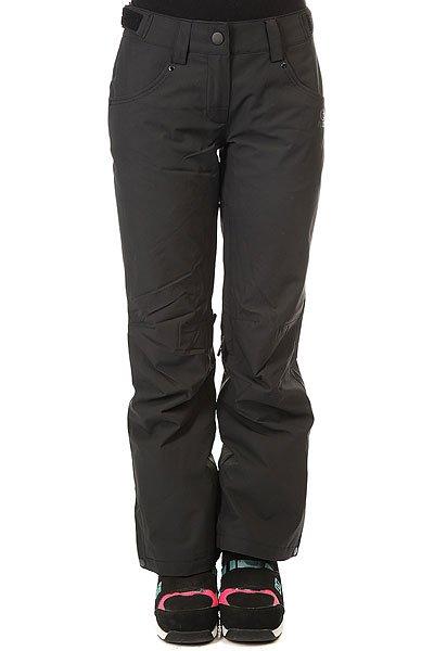 Штаны сноубордические женские Rip Curl Qanik Jet BlackТехнические характеристики: Прочная ткань Оксфорд.Молнии YKK.Два кармана для рук.<br><br>Цвет: черный<br>Тип: Штаны сноубордические<br>Возраст: Взрослый<br>Пол: Женский