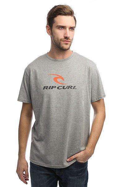 Футболка Rip Curl Corp Beton MarleХарактеристики:Лицевой принт.Стандартный ворот.Ребристый воротник.Тканные логотипы.<br><br>Цвет: серый<br>Тип: Футболка<br>Возраст: Взрослый<br>Пол: Мужской