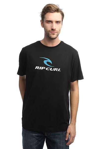 Футболка Rip Curl Corp BlackХарактеристики:Лицевой принт.Стандартный ворот.Ребристый воротник.Тканные логотипы.<br><br>Цвет: черный<br>Тип: Футболка<br>Возраст: Взрослый<br>Пол: Мужской