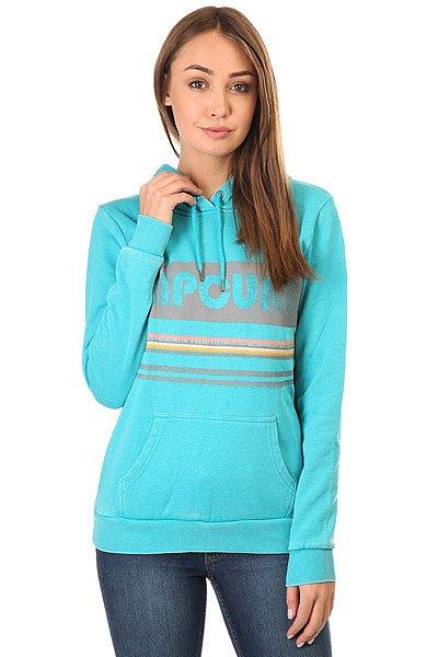 Толстовка кенгуру женская Rip Curl Active Stripe Fleece BluebirdХарактеристики:Флис стандартного кроя.Капюшон и карман-кенгуру.Лицевой принт.Ребристые манжеты на рукавах и подоле.Металлические персонализированные детали на концах шнурка.<br><br>Цвет: голубой<br>Тип: Толстовка кенгуру<br>Возраст: Взрослый<br>Пол: Женский