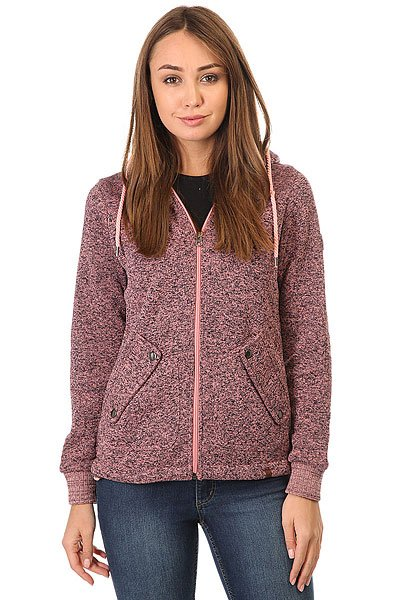 цена  Толстовка классическая женская Rip Curl Active Heather Polar Fleece Shell Pink  онлайн в 2017 году