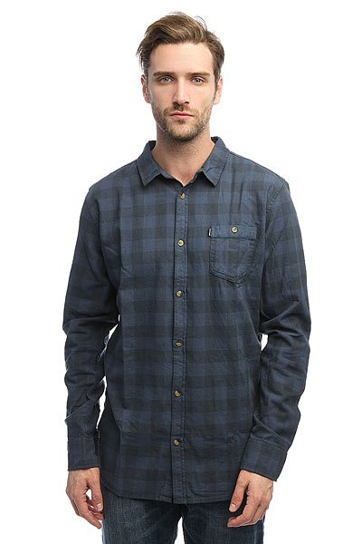 Рубашка в клетку Rip Curl Check It Ls Shirt Mood Indigo
