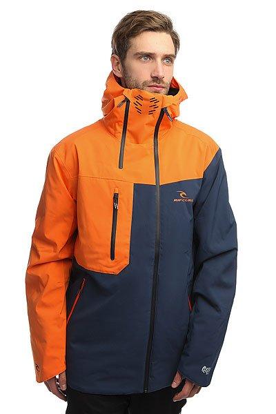 Куртка Rip Curl Core Search Gum Jkt MandarinТехнические характеристики: Эластичная ткань 2-WAY STRETCH и Оксфорд.Подкладка CLIMA MAPPING.Дышащий воротник.Водонепроницаемые молнии YKK.4 внешних кармана и внутренний карман.Крепление куртки с штанам.<br><br>Цвет: синий,оранжевый<br>Тип: Куртка утепленная<br>Возраст: Взрослый<br>Пол: Мужской