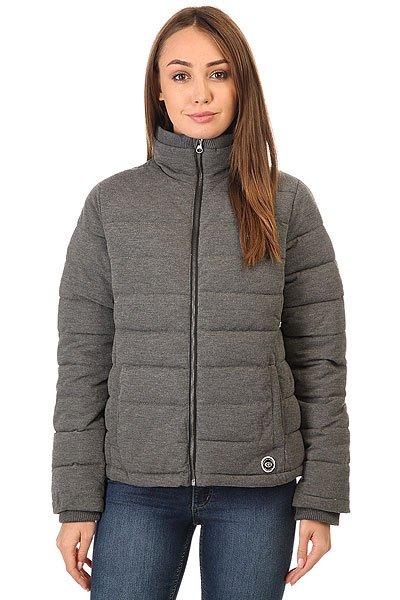 Куртка женская Rip Curl Donarieta Jacket Black MarleХарактеристики:Утепленная куртка из мягкой вязанной ткани.Ребристые манжеты и воротник.Застежка - молния.Фетровый логотип.<br><br>Цвет: серый<br>Тип: Куртка<br>Возраст: Взрослый<br>Пол: Женский