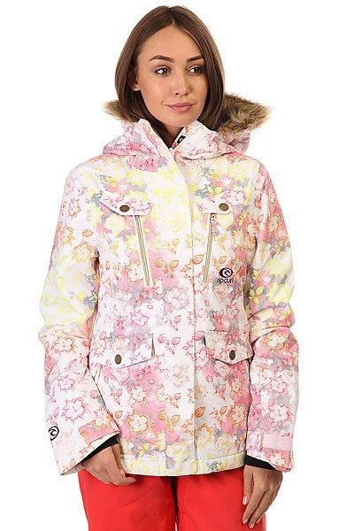 Куртка зимняя женская Rip Curl Chick Printed Jkt Optical WhiteТехнические характеристики: Прочная ткань Оксфорд.Съемный капюшон с меховой отделкой.Молнии YKK.5 внешних кармана и внутренний карман.<br><br>Цвет: белый,розовый<br>Тип: Куртка зимняя<br>Возраст: Взрослый<br>Пол: Женский