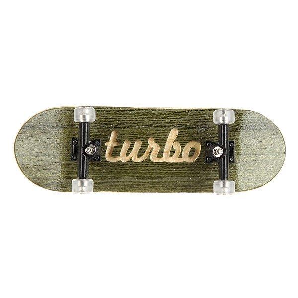Фингерборд Turbo-FB П10 Green/Black/Clear<br><br>Цвет: белый,черный,зеленый<br>Тип: Фингерборд
