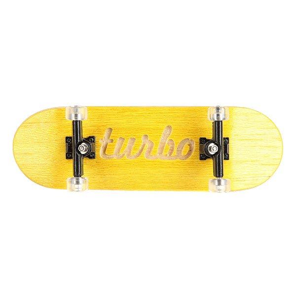 Фингерборд Turbo-FB П10 Yellow/Black/Clear<br><br>Цвет: белый,черный,желтый<br>Тип: Фингерборд
