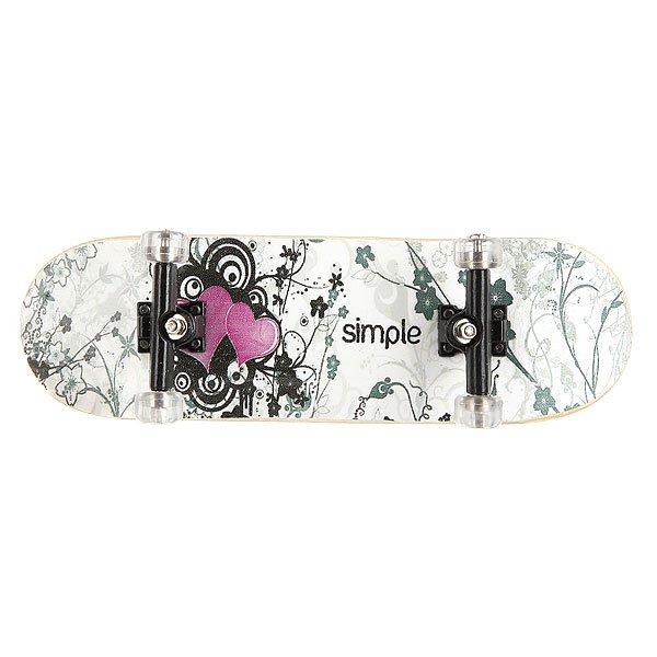 Фингерборд Turbo-FB П9 Simple Heart/Black/Clear<br><br>Цвет: белый,черный,розовый<br>Тип: Фингерборд