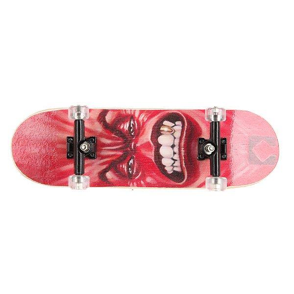Фингерборд Turbo-FB П9 Face/Red/Black/Clear<br><br>Цвет: черный,белый,красный<br>Тип: Фингерборд