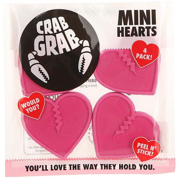 Наклейки на сноуборд Crabgrab Mini Heart Pink