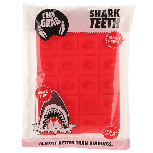 Наклейки на сноуборд Crabgrab Shark Teeth Red