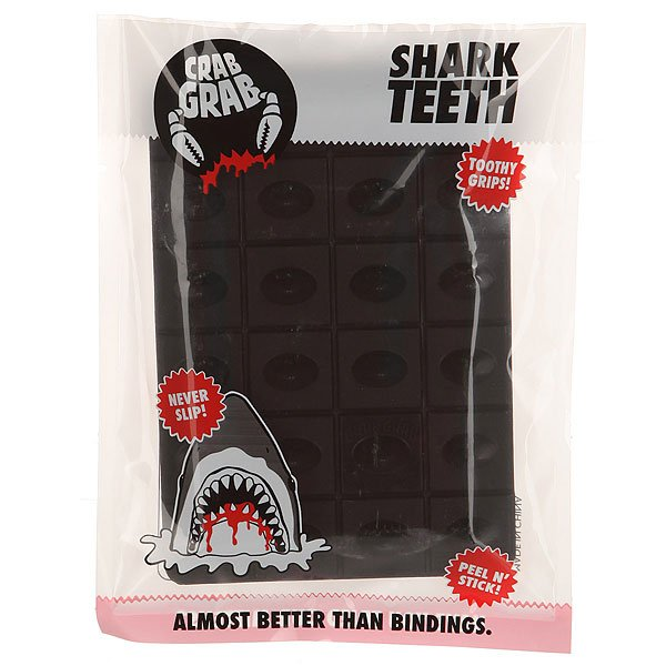 Наклейки на сноуборд Crabgrab Shark Teeth Black