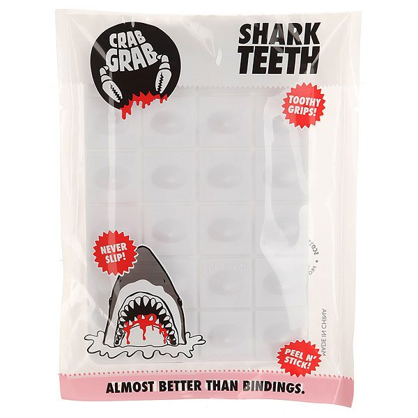 Наклейки на сноуборд Crabgrab Shark Teeth White