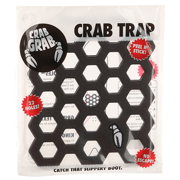 Наклейки на сноуборд Crabgrab Crab Trap Black