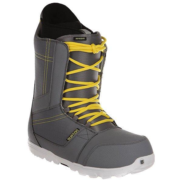Ботинки для сноуборда Burton Invader Gray/Yellow
