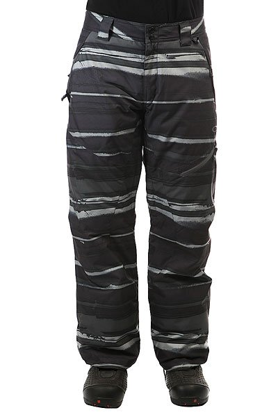 Штаны сноубордические Oakley Motility Lite Pants Black StripeИдеальные штаны для прохладной погоды с утеплителем  Thinsulate™. Штаны, которые обеспечивают исключительную производительность и стиль!Технические характеристики: Критические швы проклеены.Утеплитель 80 гр.Карманы для рук, задний и боковой карман.Вентиляционные отверстия на молнии.Гетры для ботинок.<br><br>Цвет: черный,серый<br>Тип: Штаны сноубордические<br>Возраст: Взрослый<br>Пол: Мужской