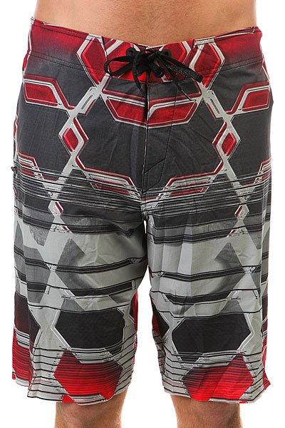Шорты пляжные Oakley Blade Boardshort 21 Red Line<br><br>Цвет: серый,красный<br>Тип: Шорты пляжные<br>Возраст: Взрослый<br>Пол: Мужской