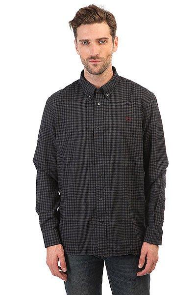 Рубашка в клетку Fred Perry Distorted Gingham Twill Shirt Grey/Navy<br><br>Цвет: черный,синий<br>Тип: Рубашка в клетку<br>Возраст: Взрослый<br>Пол: Мужской