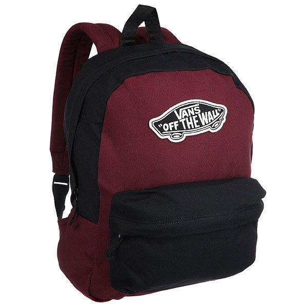 Рюкзак городской женский Vans Realm Backpack Black/Port Royal