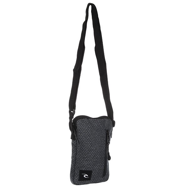 Сумка через плечо Rip Curl Heather Ripstop Slim Pouch 90 BlackКомпактная городская сумка с регулируемым плечевым ремнем.Технические характеристики: Основное отделение на молнии.Внешний карман на молнии.Регулируемый плечевой ремень.<br><br>Цвет: черный,серый<br>Тип: Сумка через плечо<br>Возраст: Взрослый<br>Пол: Мужской