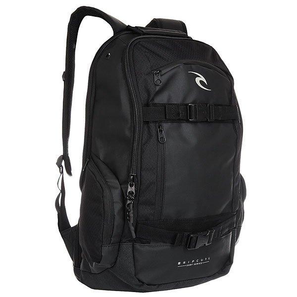 Рюкзак спортивный Rip Curl Cortez Ws Series 90 BlackБольшой спортивный рюкзак со скейтовыми ремнями и множеством удобных отделений для всех необходимых вещей.Технические характеристики: Скейтовые ремни.Съемный внутренний мешок.Карман для солнцезащитных очков.Эргономичные плечевые ремни.Нагрудный ремень для равномерного распределения нагрузки.Спинка из дышащей сетки.Отделение для ноутбука.Боковые карманы на молнии.<br><br>Цвет: черный<br>Тип: Рюкзак спортивный<br>Возраст: Взрослый<br>Пол: Мужской